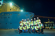 Angolan Cadets at the end of a day of training on the Maersk Attender