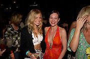 "Sienna Miller and Helen McCrory. after-show party following the opening night of  at Wyndham's Theatre of ""As You Like It"", at Mint Leaf, Suffolk Place, London.  on June 21, 2005. ONE TIME USE ONLY - DO NOT ARCHIVE  © Copyright Photograph by Dafydd Jones 66 Stockwell Park Rd. London SW9 0DA Tel 020 7733 0108 www.dafjones.com"