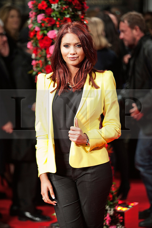 © Licensed to London News Pictures. 13/02/2014. London, UK. Amy Childs as she attends during A New York Winter's Tale premiere outside the Odeon Kensington. Photo credit : Andrea Baldo/LNP