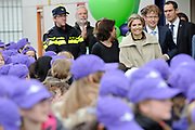 Koningin Maxima geeft startsein Week van het geld op de basisschool OBS West in Capelle aan de IJssel. <br /> <br /> Queen Maxima launches Money Week at the primary public school  in Capelle aan den IJssel.<br /> <br /> Op de foto / On the photo:  Koningin Maxima / Queen Maxima