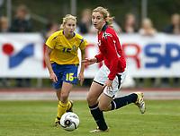 Fotball<br /> Landskamp J15/16 år<br /> Tidenes første landskamp for dette alderstrinnet<br /> Sverige v Norge 1-3<br /> Steungsund<br /> 11.10.2006<br /> Foto: Anders Hoven, Digitalsport<br /> <br /> Marie Thomassen - Grand Bodø / Norge