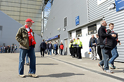 Bristol City fans arrive at Deepdale Stadium - Photo mandatory by-line: Dougie Allward/JMP - Mobile: 07966 386802 - 11/04/2015 - SPORT - Football - Preston - Deepdale - Preston North End v Bristol City - Sky Bet League One
