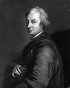 John Dryden (1631-1700)  English poet.  Poet Laureate 1668.  Engraving after portrait by Thomas Hudson (1701-1779).