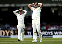 James Anderson of England looks frustrated while bowling against South Africa - Mandatory by-line: Robbie Stephenson/JMP - 07/07/2017 - CRICKET - Lords - London, United Kingdom - England v South Africa - Investec Test Series