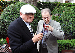 Left to right, artists DAVID HOCKNEY and LUCIAN FREUD at the Tatler Summer Party, The Hempel Hotel, 31-35 Craven Hill Gardens, London W2 on 25th June 2008.<br /><br />NON EXCLUSIVE - WORLD RIGHTS