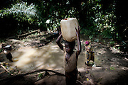 In the village NDOMETE,  villagers goes to the local water source to collect drinking water, wash their clothes and prepaire food, while pigs are running around eating garbage. over the the last two month, more than 14 children died of tyophoid in the village, but there are no other sources in the village.The central African rep. has some of the world's worst child welfare indicators. The infant mortality rate is 112, and out of 1,000 children born in CAR, 171 will die before reaching the age of five. The five main child killers in CAR are malaria, diarrhoea, acute respiratory infections, malnutrition and measles – all preventable diseases. The Accelerated Child Survival and Development Strategy UNICEF is implementing aims to reach every newborn and child in every district with a set of priority interventions. Evidence shows that there are a number of known and affordable interventions that if implemented fully could prevent 63 per cent of current childhood mortality.