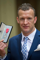 Investitures at Buckingham Palace.  Richard Whitehead Sprinter for Services to Athletics,<br /> London, United Kingdom<br /> Friday, 7th June 2013<br /> Picture by i-Images