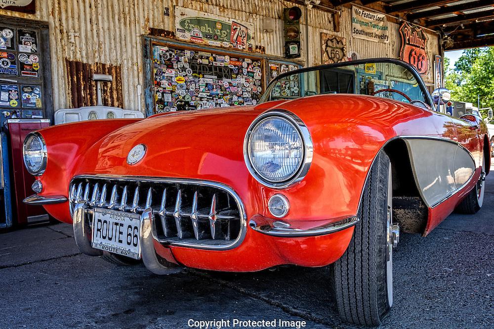 Classic 1957 Corvette convertible