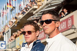 RELEASE DATE: November 15, 2019 TITLE: Ford v. Ferrari STUDIO: Twentieth Century Fox DIRECTOR: James Mangold PLOT: The true story of the battle between Ford and Ferrari to win Le Mans in 1966. STARRING: MATT DAMON as Carroll Shelby, CHRISTIAN BALE as Ken Miles. (Credit Image: © Twentieth Century Fox/Entertainment Pictures/ZUMAPRESS.com)