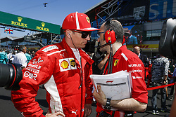 July 8, 2018 - Silverstone, Great Britain - Motorsports: FIA Formula One World Championship 2018, Grand Prix of Great Britain, ..#7 Kimi Raikkonen (FIN, Scuderia Ferrari) (Credit Image: © Hoch Zwei via ZUMA Wire)