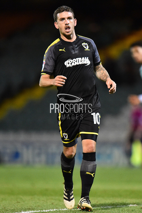 Cody McDonald (10) of AFC Wimbledon during the EFL Trophy match between Yeovil Town and AFC Wimbledon at Huish Park, Yeovil, England on 5 December 2017. Photo by Graham Hunt.