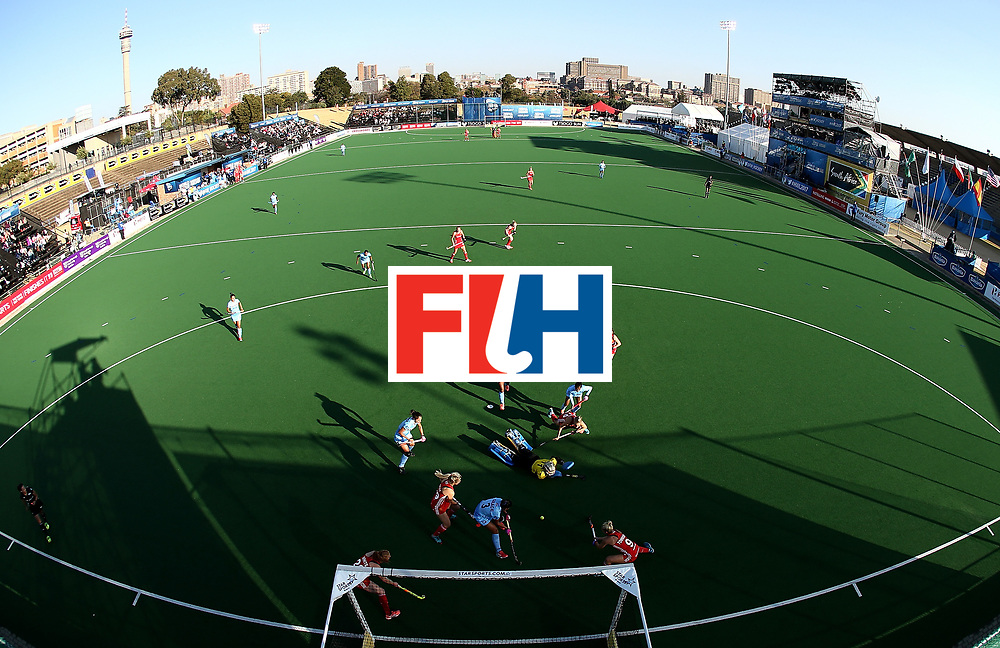 JOHANNESBURG, SOUTH AFRICA - JULY 18:  Susannah Townsend of England attempts a shot at goal during day 6 of the FIH Hockey World League Women's Semi Finals quarter final match between England and India at Wits Univesity on July 18, 2017 in Johannesburg, South Africa.  (Photo by Jan Kruger/Getty Images for FIH)