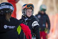 Francis Piche Invitational Giant Slalom U12 boys first run with Gunstock Ski Club.  <br /> ©2017 Karen Bobotas Photographer