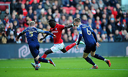 Famara Diedhiou of Bristol City shoots at goal -Mandatory by-line: Nizaam Jones/JMP - 18/01/2020 - FOOTBALL - Ashton Gate - Bristol, England - Bristol City v Barnsley - Sky Bet Championship