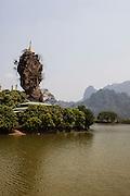 Kyauk Kalap monastery near Hpa An. Kayin State, Myanmar