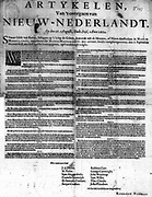 The Articles of Capitulation on the Reduction of New Netherland These Articles following were consented to by the persons hereunder subscribed at the Governor's Bowry, 1664.