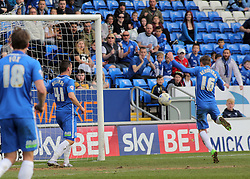 Harry Beautyman of Peterborough United scores his second goal of the game. - Mandatory by-line: Joe Dent/JMP - 02/04/2016 - FOOTBALL - ABAX Stadium - Peterborough, England - Peterborough United v Crewe Alexandra - Sky Bet League One