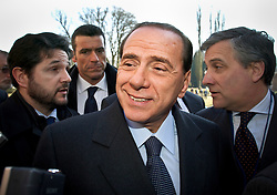 Silvio Berlusconi, Italy's prime minister, attends the European Peoples Party ( EPP ) meeting before the start of the European Summit in Brussels, on March 23, 2006. (Photo © Jock Fistick)
