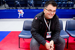 Goran Cvijic, PR officer during practice session of Slovenia national team 1 day before handball match against Macedonia for 5th place at 10th EHF European Handball Championship Serbia 2012, on January 26, 2012 in Beogradska Arena, Belgrade, Serbia.  (Photo By Vid Ponikvar / Sportida.com)
