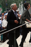 Tom Brokaw arrives at the Walter Cronkite funeral at The St. Bartholomew Church on July 23, 2009 in New York City