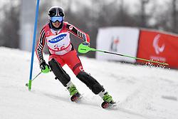 RAMSAY Alana LW9-2 CAN competing in the ParaSkiAlpin, Para Alpine Skiing, Slalom at the PyeongChang2018 Winter Paralympic Games, South Korea.