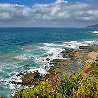 Elevated Coastal View from Big Hill on Great Ocean Road, Australia<br />