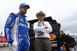 July 14, 2017 - Loudon, NH, United States of America - July 14, 2017 - Loudon, NH, USA: Ricky Stenhouse Jr. (17) and Jack Roush hangs out on pit road prior to qualifying for the Overton's 301 at New Hampshire Motor Speedway in Loudon, NH. (Credit Image: © Justin R. Noe Asp Inc/ASP via ZUMA Wire)