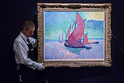 ANDRÉ DERAIN Les Voiles rouges Painted in 1906. Estimate US$ 15,000,000 – 20,000,000 - Sotheby's previews New York sales of Impressionist, Modern and Contemporary Art.   London Exhibition Dates 9- 13 April 2016, New York Sale Dates Impressionist & Modern Art Evening Sale: 9 May 2016 and Contemporary Art Evening Auction: 11 May 2016