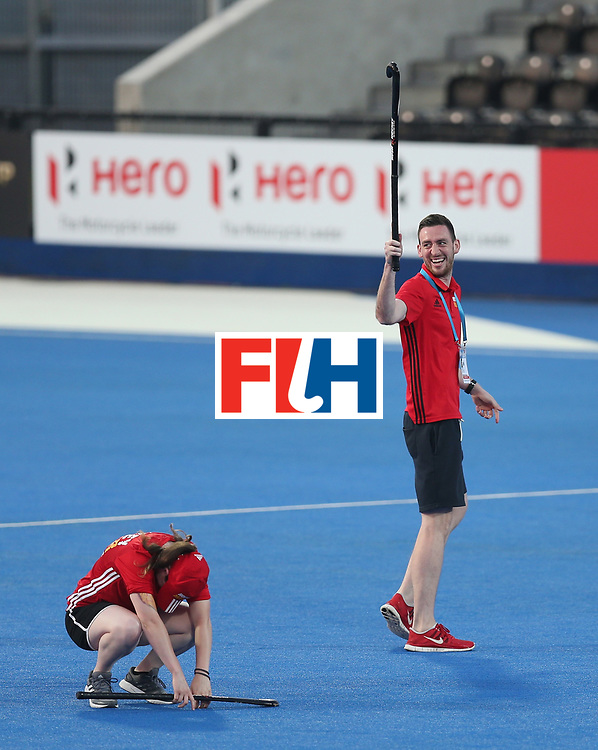 LONDON, ENGLAND - JUNE 19:  Half time entertainment during the Pool A match between Argentina and China on day five of Hero Hockey World League Semi-Final at Lee Valley Hockey and Tennis Centre on June 19, 2017 in London, England.  (Photo by Alex Morton/Getty Images)
