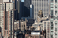 New York. elevated view. american standart - radiator - building - gold rooftop - and grace building  New York - United states / midtown vu d'en haut. le radiator building -  et le grace building dans midtown  New York - Etats unis