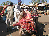 Meat market in Chad