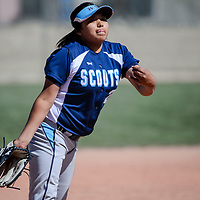Window Rock Scout Hannah Smiley (2) pitches to the Gallup Bengals Tuesday at Gallup High School.