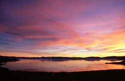 """""""Sunset at Lake Tahoe 1""""- This sunset was photographed at Lake Tahoe, off of Mount Rose Hwy (431), facing southwest.<br /> Photographed: December 2006"""
