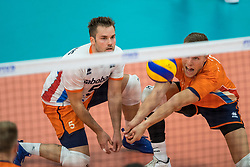 08-09-2018 NED: Netherlands - Argentina, Ede<br /> Second match of Gelderland Cup / Dirk Sparidans #5 of Netherlands, Thijs ter Horst #4 of Netherlands