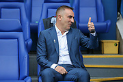 Sheffield Wednesday Manager Carlos Carvalhal gives thumbs up during the EFL Sky Bet Championship match between Sheffield Wednesday and Sheffield Utd at Hillsborough, Sheffield, England on 24 September 2017. Photo by Phil Duncan.