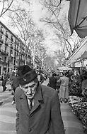 Barcelona, 2001: anziano sulla Rambla.<br /> &copy; Andrea Sabbadini
