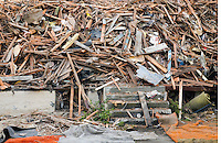 Pile of debris from a demolished house&amp;#xA;<br />