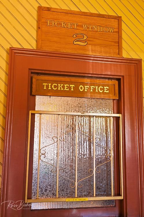 Ticket window at the Durango & Silverton Narrow Gauge Railroad depot, Durango, Colorado