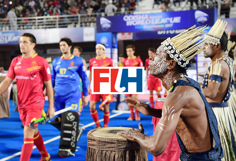 Odisha Men's Hockey World League Final Bhubaneswar 2017<br /> Match id:13<br /> Spain v Australia<br /> Foto: Ceremonie<br /> COPYRIGHT WORLDSPORTPICS FRANK UIJLENBROEK