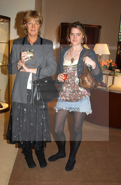 Left to right, BARONESS VON WESTENHOLTZ and her daughter VIOLET VON WESTENHOLTZat a party to celebrate the publication of 'Last Voyage of The Valentina' by Santa Montefiore at Asprey, 169 New Bond Street, London W1 on 12th April 2005.<br /><br />NON EXCLUSIVE - WORLD RIGHTS
