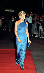 The Princess of Wales arrives at the Sydney Entertainment Centre, where she attended the Victor Chang Cardiac Research Institute Dinner Dance for charity.