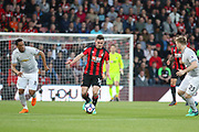 Lewis Cook (16) of AFC Bournemouth takes on Manchester United Forward Anthony Martial and Manchester United Defender Luke Shaw during the Premier League match between Bournemouth and Manchester United at the Vitality Stadium, Bournemouth, England on 18 April 2018. Picture by Phil Duncan.