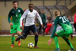Moussa Dembele of France during football match between Slovenia and France in Qualifying round for European Under-21 Championship 2019, on November 13, 2017 in Sportni park, Domzale, Slovenia.  Photo by Ziga Zupan / Sportida
