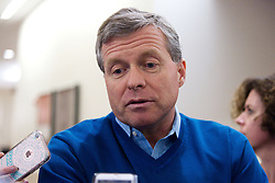 """US Representative Charlie Dent of Pennsylvania meets with the media, at the """"Congress of Tomorrow"""" Joint Republican Issues Conference, at the Loews Hotel, in Center City, Philadelphia, Pennsylvania, on January 25, 2017."""