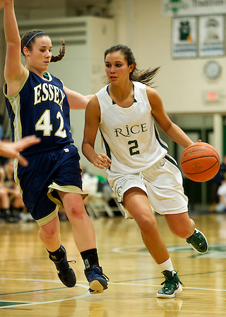 the girls high school basketball game between the Essex Hornets and the Rice Green Knights at Rice Memorial High School on Thursday night January 12, 2011 in Burlington, Vermont.