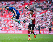 Chelsea (11) Pedro, Southampton (2) Cédric Soares during the The FA Cup match between Chelsea and Southampton at Wembley Stadium, London, England on 22 April 2018. Picture by Sebastian Frej.