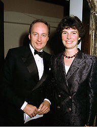 MR & MRS SHAUN WOODWARD, she is a member of the Sainsbury stores family, at a party in London on January 16th 1997.LUW 19