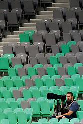 Photographer, Sasa Pahic Szabo during football match between NK Olimpija Ljubljana and NK Rudar Velenje in 1st Round of PrvaLiga Telekom Slovenije 2013/14 on July 13, 2013 in SRC Stozice, Ljubljana, Slovenia. (Photo By Urban Urbanc / Sportida.com)