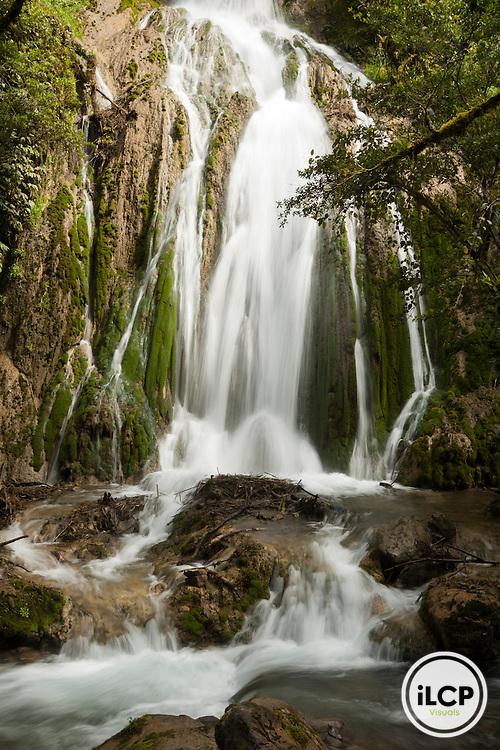 Beautiful waterfall near Anji Village, Enga Province, Papua New Guinea