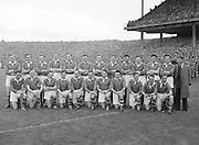 All Ireland Senior Football Championship Final, Kerry v Meath, 26091954AISFCF, Meath 1-13 Kerry 1-7, 26.09.1954, 09.26.1954, 26th Septmber 1954,.Kerry Team, .G O'Mahony, J M Palmer, E Roche, D Murphy, Sean Murphy, J Cronin, C Kennelly, John Dowling (capt), T Moriarty, R Buckley, J J Sheehan, P Sheehy, J Brosnan, S Kelly, T Lyne,